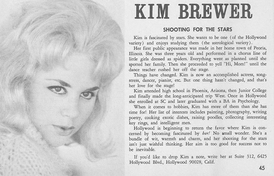 Kim Brewer interview at age 21